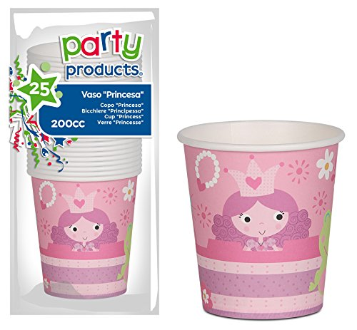 PARTY – Pack 25 Becher Pappe, Prinzessinnen (68235) von PARTY