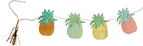 Talking Tables FST2-PINEAPPLBUNT Tropical Fiesta Pineapple Bunting, Microfaser, Mehrfarbig, 1.5 x 24 x 23 cm von Talking Tables