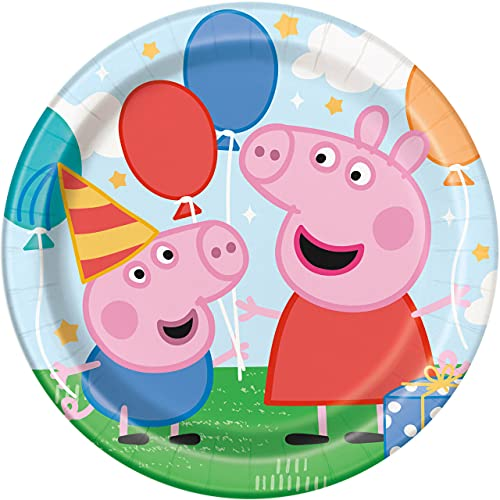 Unique Peppa Pig 9 inch Dessert Plates 8ct von Unique