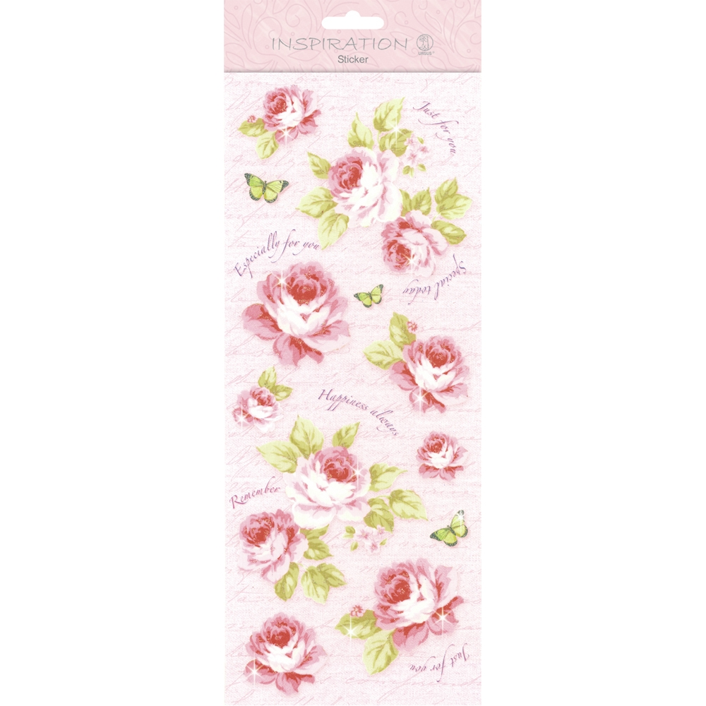 Flat Sticker `Flowers` rosa von Ursus