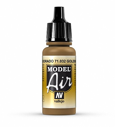 Vallejo Model Air Acrylfarbe, 17 ml golden brown von Vallejo