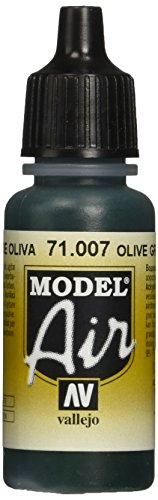 Vallejo Model Air Acrylfarbe, 17 ml olivgrün von Vallejo