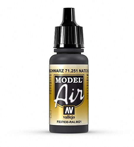 Vallejo Model Air Acrylfarbe, 17 ml Nato Black von Vallejo