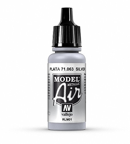 Vallejo Model Air Acrylfarbe, 17 ml metallic silver von Vallejo