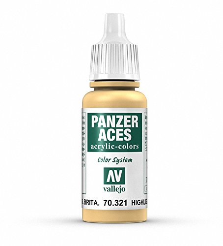 Vallejo Panzer Aces Acrylfarbe, 17 ml Highlight British Tank Crew von Vallejo