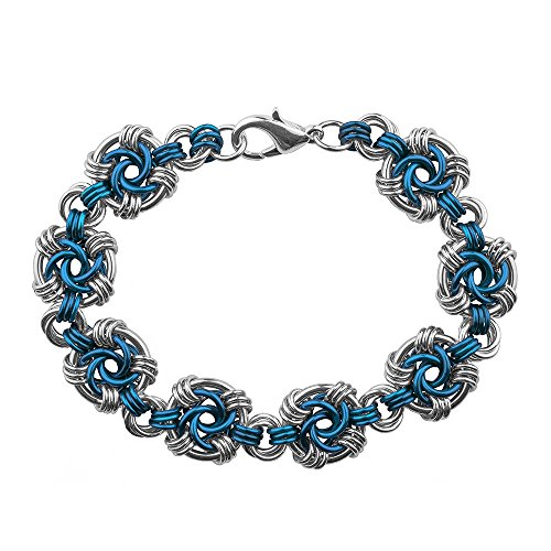 Weave Got Maille Lapis Swirls Chain Maille Bracelet Kit by Weave Got Maille von Weave Got Maille