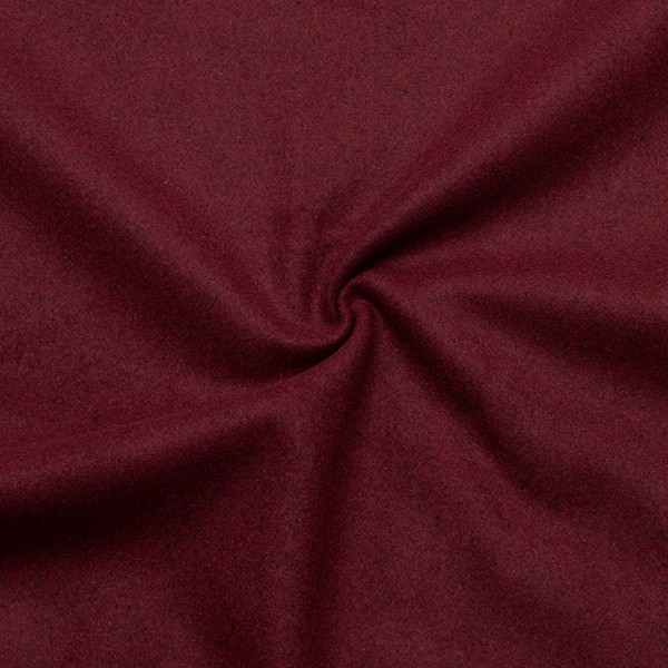 Wollstoff `Winter Basic` Farbe Bordeaux von Wouters Textiles