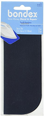 Wright Products Bondex Bügelbild Patches 12,7 x 17,8 cm 2/pkg-Navy von Wright Products