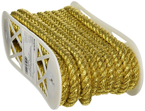 Wright Products Jumbo Metallschnur, verdreht, 1,27 cm breit, 12 Meter, Gold von Wright Products