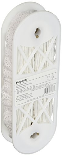 Wright Products Simplicity Swiss Öse, 2,8 cm x 9,1 m, Weiß von Wright Products