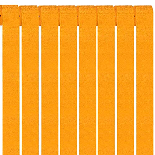 ZOOYOO Orange Party Streamers Crepe Paper Streamers Decorations 1.77in Wide 82ft Long 12 Rolls von ZOOYOO