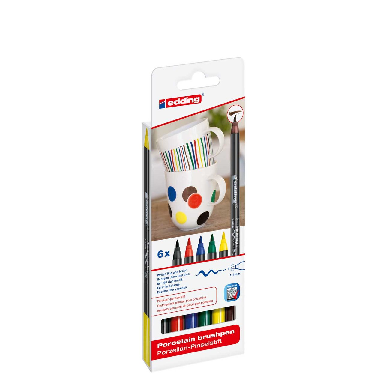 edding 4200/6 S porcelain brushpen family colours von Edding