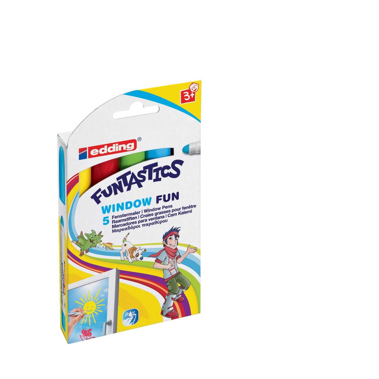 edding Funtastic Window Fun 5er Set von Edding