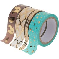 "Washi Tape Set ""Hot Foil"", Türkis/Gold von folia"
