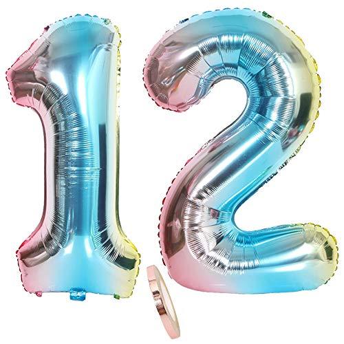 """Nummer 14 Luftballon Rosegold Mädchen 2 Luftballons Zahl 14 40/"""" Aufblasbar..."""
